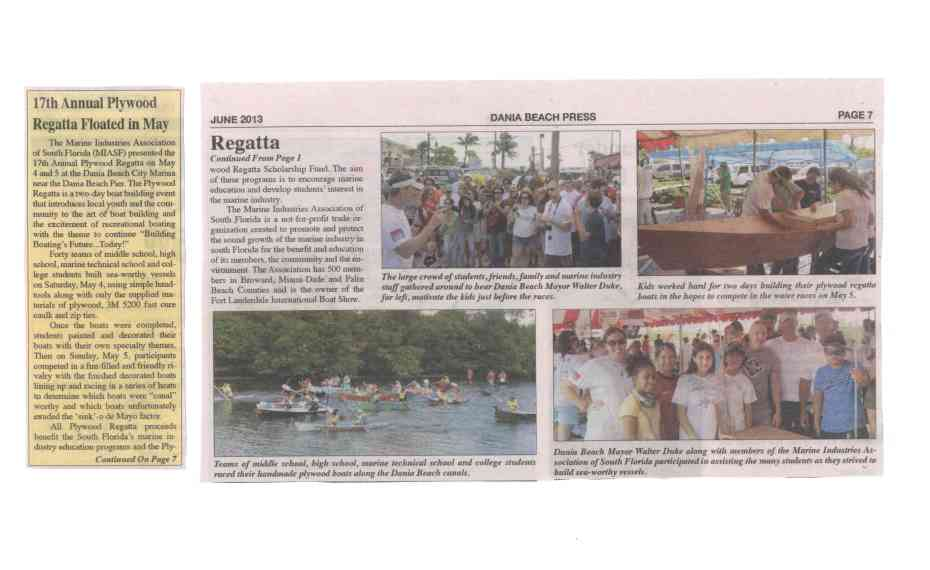 dania beach article